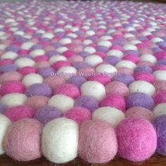 gallery photo Wool Felt, Wool Rug, Baby Nursery Rugs, Felt Ball Rug, Handmade Felt, Marshmallow, Rugs On Carpet, Kids Room, The Originals
