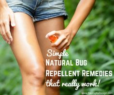 These natural bug repellent remedies are a great way to make sure that the bugs keep their distance from you and your family, while making sure you're not ingesting strong and harmful into not only your body, but your kiddo's bodies as well! In a world that is more and more consumed by natural DIY remedies, bug repellent is a great place to start. And you'll be amazed at how easy it really is!