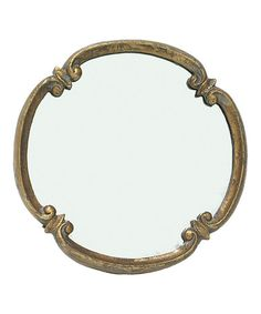 Take a look at this Round Meadow Mirror by A Whimsical Home: Décor on #zulily today!