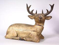Carved and Painted Pine Folk Art Deer   Sale Number 2297, Lot Number 561   Skinner Auctioneers