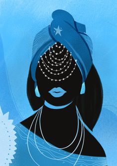 Iemanja Art Print by Andressa Meissner - X-Small Black Girl Art, Black Women Art, Black Art, African Mythology, African Goddess, Art And Illustration, Yemaya Orisha, Yemaya Santeria, Orishas Yoruba