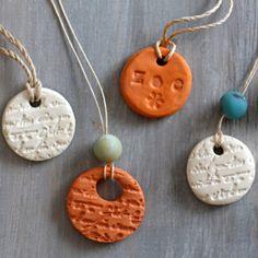 clay diffuser necklace