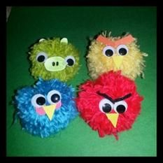 Angry Birds yarn crafts
