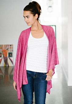 Poncho Cape in Raspberry from KOKOON Boutique Without Borders