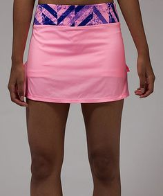 Look what I found on #zulily! Pink Shell Set The Pace Skirt #zulilyfinds