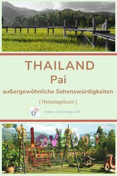 Welcher Ort in Thailand lädt zum Relaxen ein und wo kannst du die Seele wunderbar baumeln lassen?⠀⠀⠀⠀⠀ Erlebe die Magie in #pai in den Bergen Nordthailands: #bamboobridge - #paicanyon - land split - I love you Pai Café.⠀⠀⠀  // #madoreisen #madounterwegs👣 #reisetagebuch #asien #thailand #reisetipp #travel #tourismthailand // Werbung, da Firmen-/Marken-/Ort-/Personen-Nennung oder -Verlinkung ohne Auftrag, aber als persönliche Empfehlung // Dienstleistungen/Produkte/Unterkünfte selbst bezahlt // Vineyard, Thailand, Outdoor, Green Landscape, Travel Scrapbook, Travel Advice, Advertising, Products, Outdoors