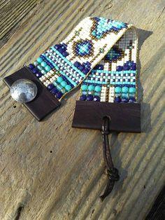 Bead woven bracelet bead Loom bracelet Native American boho