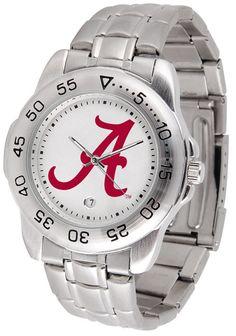 Alabama Crimson Tide Men Or Ladies Sport Steel Watch