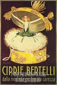 Vintage Italian face powder ad