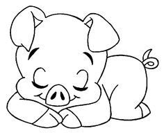 Popular Simple Animal Coloring Pages 89 Cute pig coloring pages