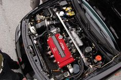 EDM Honda Integra Type-R engine bay Mugen Intake