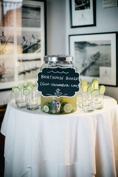 Boathouse Booze Signature Cocktail | Emily Wren Photography | TheKnot.com