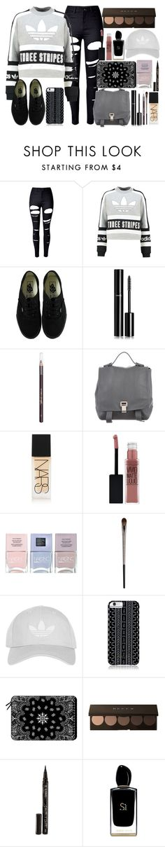 """""""adidas"""" by lipsy-look ❤ liked on Polyvore featuring WithChic, adidas Originals, Vans, Chanel, Barry M, Proenza Schouler, NARS Cosmetics, Maybelline, Nails Inc. and Urban Decay"""