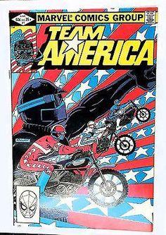 """Team America #1 """"ORIGINS"""" HI-GRADE, Marvel Comics 1982 HOT Comic Book! Sold x4"""