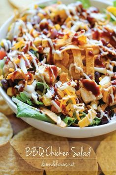 Recipe of the week: BBQ Chicken Salad. Just because you can't have a BBQ outside, doesn't mean you can't enjoy the flavours.