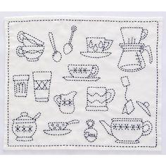 tea time kitchen towel