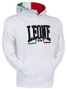 bluza z kapturem LEONE 1947 BIAŁA roz M