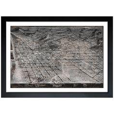 <li>Artist: Oliver Gal Artist Co.</li> <li>Title: Map of Dallas in 1872</li> <li>Product type: Framed art</li>