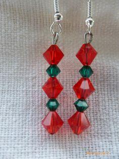 Swarovski Crystal Earrings by christineconrad on Etsy, $8.00
