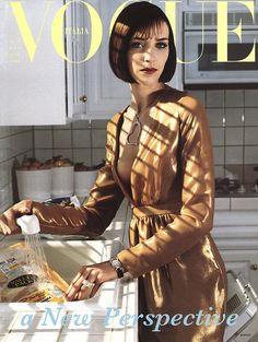 Vogue Italy cover with Hannelore Knuts - July 2000