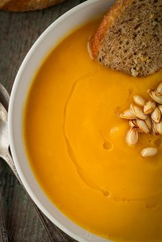 Roasted Butternut Squash Soup with Sage (vegan and gluten-free)