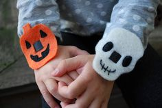 Easy Halloween No-Sew Bracelets: Pumpkins and Skulls for Halloween,Under 10 dollars, Under 1 Hour