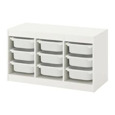 TROFAST Storage combination with boxes - white/white - IKEA