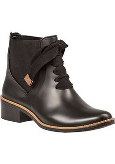 Bernardo - Lacey Rain Boot Black Rubber