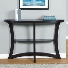 Monarch Specialties Cappuccino Rubberwood Console Table