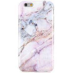 "Pink iPhone 6 6S Case, Unique Marble Design,VIVIBIN Anti-Scratch &Fingerprint Shock Proof Thin TPU Case For iPhone 6 / 6s 4.7"" ,Marble Design,008-Pink#2"