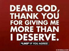 Dear God. ..