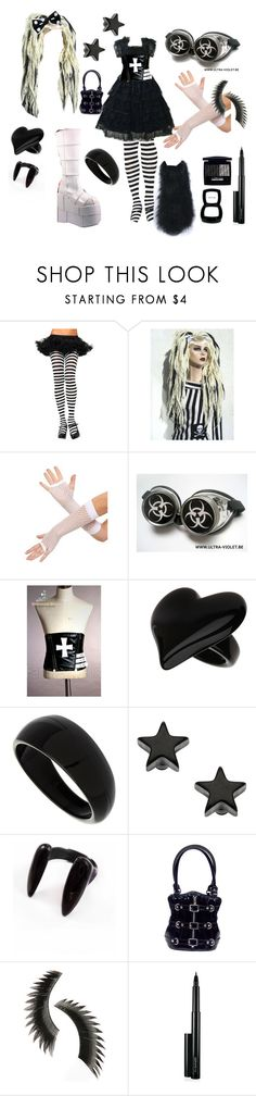 """Cyber Loli 2"" by theeverydaygoth ❤ liked on Polyvore featuring Demonia, Miss Selfridge, Dorothy Perkins, Topman, Katie Rowland, Beauty Is Life, MAC Cosmetics, NYX and Christian Dior"