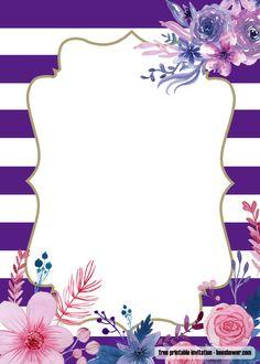 Get FREE Lavender Purple Baby Shower Invitations Design Source by Best Kadın Lavender Baby Showers, Baby Shower Purple, Baby Shower Invitation Templates, Invitation Design, Invitation Background, Boy Decor, Templates Printable Free, Flower Backgrounds, Flower Frame