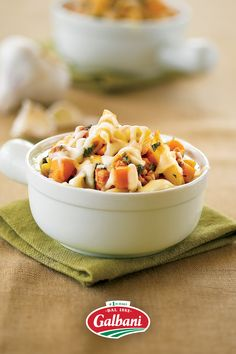 New pasta plan: Toss with vegetables and sausage then top with Galbani Mozzarella. That's our savory Penne with Sausage, Butternut Squash, and Kale, ready to be your new fave crave. 😍 Kale Recipes, Delicious Recipes, Yummy Food, Sauteed Squash, Chicken And Butternut Squash, Italian Cheese, Taco Casserole, Sausage Pasta, Fresh Mozzarella