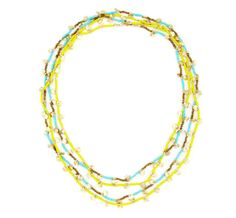 cute necklace in yellow and turquoise