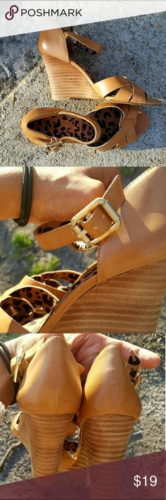 Jessica Simpson Wedge Sandals **NEW** Jessica Simpson Tan Wedge Strap Sandals Size 6.  Perfect summer attire neutral tones makes this perfect pairing for any long flowy summer dress.  ***NWOT*** Jessica Simpson Shoes Wedges