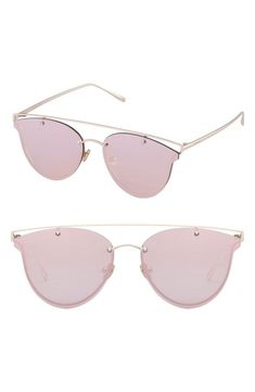d64db081f33 Summer Looks 2018 Ideas   Shades of pink. These semi-rimless cat eye  sunglasses are the perfect mix of mod…