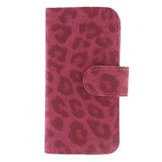 Leopard Print Clamshell Full Body Case med kort slot og Stander til iPhone 5/5S (assorterede farver) – DKK kr. 62