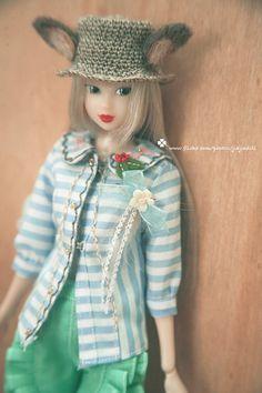 jiajiadoll hand embroider blue and white stripes by jiajiadoll