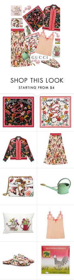 """""""Presenting the Gucci Garden Exclusive Collection'"""" by dianefantasy ❤ liked on Polyvore featuring Gucci, Haws, Mina Victory and Hudson Valley Seed Library"""