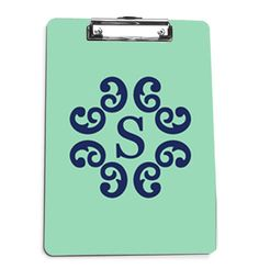 Monogrammed Clipboard by Pink Wasabi Ink