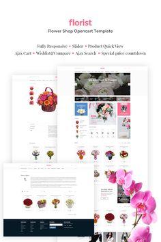 OpenCart Theme , Flower Shop Responsive