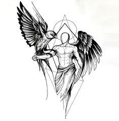 1 idées pour un beau tatouage avec des ailes d'ange que vous pouvez vraiment apprécier ▷ 1001 + Ideen für einen schönen Engelsflügel Tattoo, die Ihnen sehr gut gefallen können – - Magazine De Défilé De Mode Tattoo Arm Designs, Tattoo Designs For Women, Tattoos Motive, Body Art Tattoos, Finger Tattoos, Trendy Tattoos, Tattoos For Guys, Men Tattoos, Tribal Tattoos