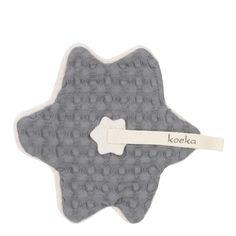 Koeka Pacifier cloth waffle Oslo - Steel Grey