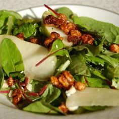 """Roquefort Pear Salad 