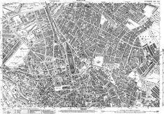 A highly detailed old map of central Nottingham, Nottinghamshire, in shows individual houses and gardens etc Coventry Map, Old Pictures, Old Photos, Nottingham Map, Train Map, England Map, Local History, Family History, Old Maps