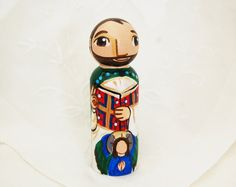 Saint Matthew the Evangelist Wooden Catholic by SaintAnneStudio, $48.00