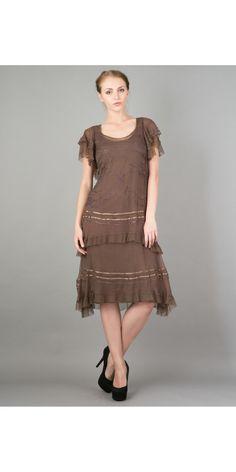 Romantic Ruffled Vintage Style Tea Party Dress by Nataya