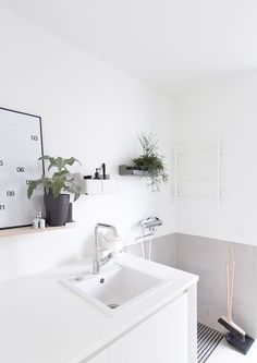 Utility room with lightness. Laundry Room Design, Laundry In Bathroom, Kitchen Design, Bathtub Sizes, Loft, Sauna, Bathroom Inspiration, Living Room Decor, House