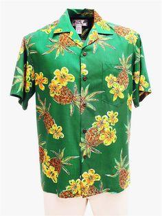 Two Palms Hale Kahiki Jade Rayon Men's Hawaiian Shirt